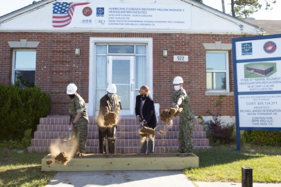 NAVFAC construction starts after hurricane