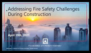 NFPA Fire Prevention Program Manager Online Training Series webinar screenshot