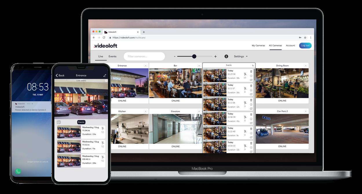 Videoloft's cloud video surveillance VSaaS platform