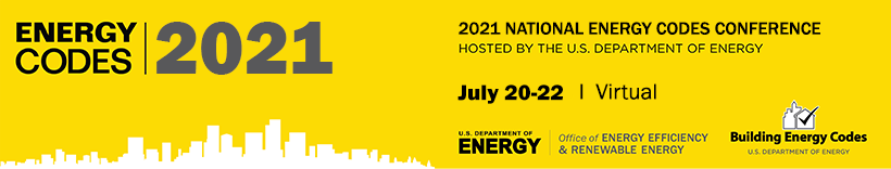 2021 National Energy Codes Conference banner