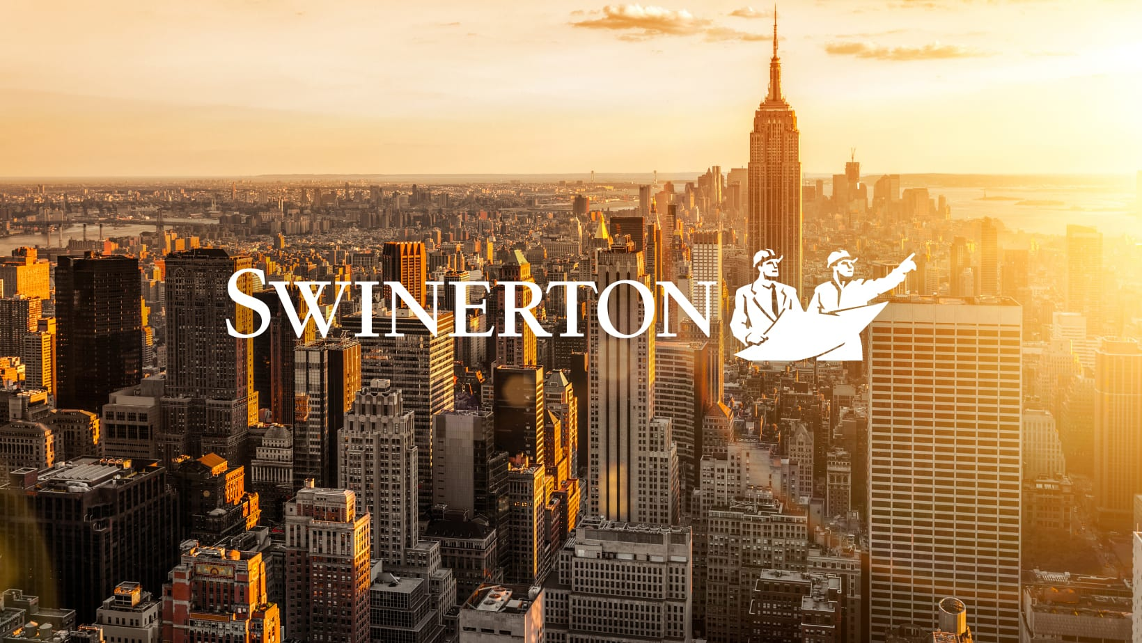 NYC skyline with Swinerton logo