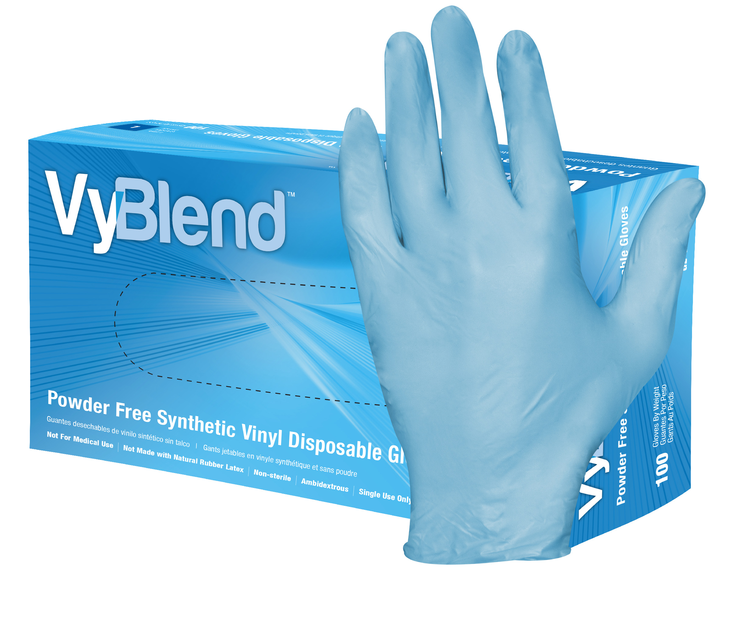 Hospeco VyBlend synthetic vinyl disposable gloves