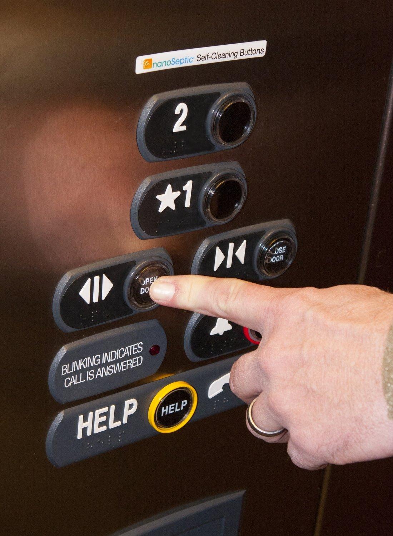 NanoSeptic Elevator Button Covers