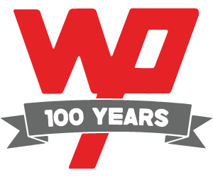 Wooster 100 years logo