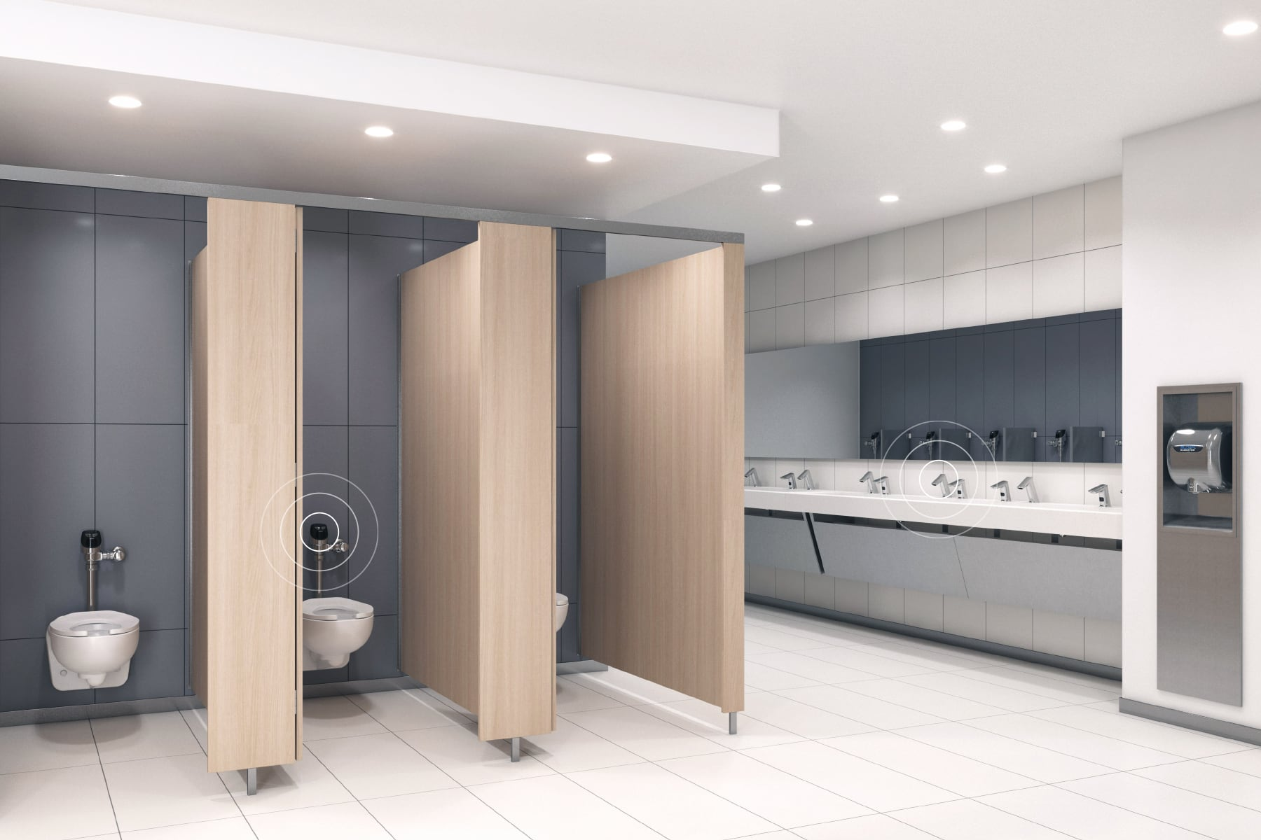 FMJ bluetooth-connected restroom